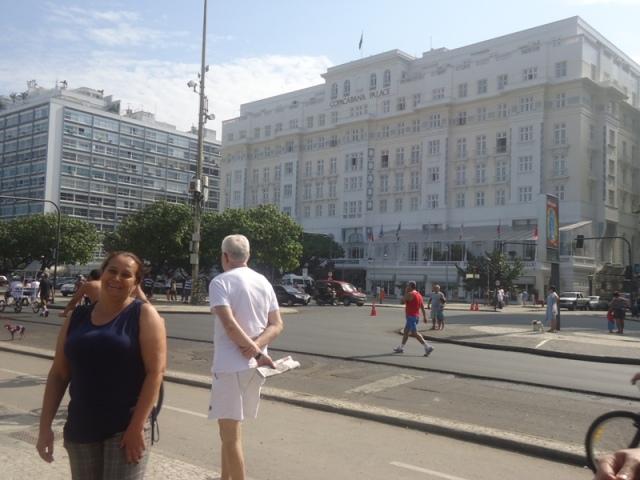 Dona Lu no Copacabana Palace